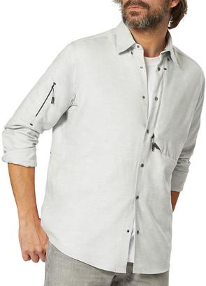 Sease Men's Gate Flannel Zip-Pocket Sport Shirt