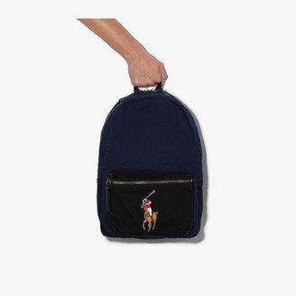 Polo Ralph Lauren blue Polo Pony canvas backpack