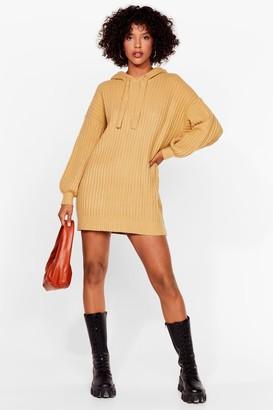 Nasty Gal Womens Rib's as Simple as That Knit Mini Dress - Oatmeal