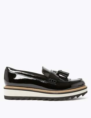 M&S CollectionMarks and Spencer Leather Tassel Flatform Loafers