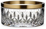 """Waterford Lismore Reflection With Gold Band 8"""" Bowl"""