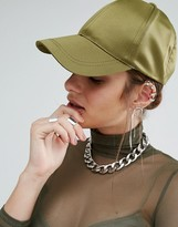 Missguided Satin Baseball Cap