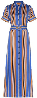 Evi Grintela Badi striped maxi shirt dress