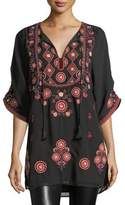 Tolani Khalisse Half-Sleeve Embroidered Tunic