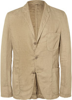 Aspesi Sand Slim-Fit Unstructured Linen Blazer