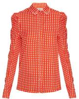 Preen by Thornton Bregazzi Ari crystal-embellished gingham shirt