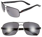Carrera Men's Eyewear 62Mm Polarized Sunglasses - Matte Black