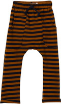 Lil Diggers Boys' Casual Pants - Navy & Gold Stripe Pocket Joggers - Infant & Toddler