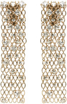 Lanvin Gold & Crystal Chain Clip-On Earrings