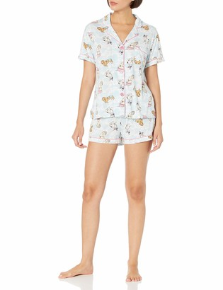 PJ Salvage Women's S/S PJ Set w/mask