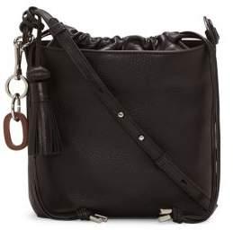 Vince Camuto Suni Leather Bucket Crossbody Bag