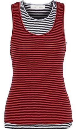 Proenza Schouler Layered Striped Cotton-jersey Tank