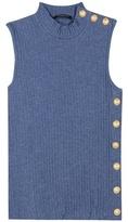 Balmain Embellished Cotton Top
