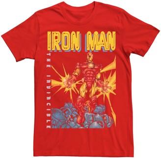 Iron Man Men's Marvel Avengers The Invincible Dark Portrait Tee
