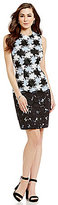 Antonio Melani Gilda Crew Neck Sleeveless Chemical Lace Sheath Dress
