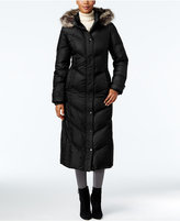 London Fog Petite Faux-Fur-Trim Maxi Puffer Coat