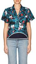 Harvey Faircloth Women's Mixed-Print Cotton Shirt