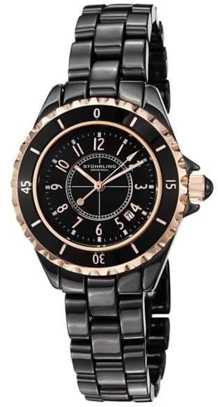 Stuhrling Original 530.114OB1 Black Ceramic 34mm Watch