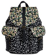 Mossimo Women's Nylon Floral/Dot Front Flap Backpack Black
