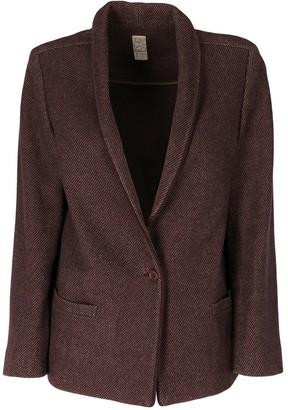 Basile Brown Wool Jacket for Women