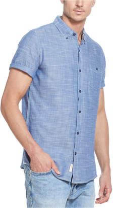 Weatherproof Vintage Men Twill Slub Short Sleeve Shirt