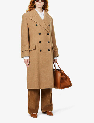 Victoria Beckham Double-breasted wool and cashmere-blend coat
