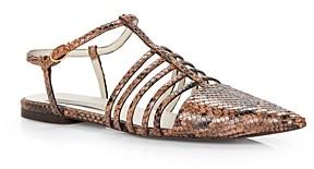 Stella McCartney Women's Tunit Snake-Embossed Pointed Toe Sandals