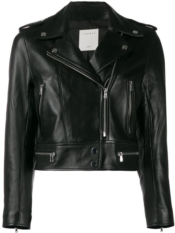 7184b34d1 Paris cropped biker jacket