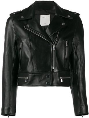 Sandro Paris cropped biker jacket