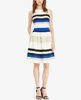 Lauren Ralph Lauren Petite Striped Fit & Flare Dress