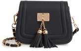 Girl's Popatu Double Tassel Faux Leather Shoulder Bag - Black