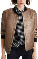 Madewell Women's Metallic Quilted Military Jacket