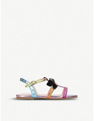 Kurt Geiger London Luminate rainbow metallic faux-leather sandals 7-10 years