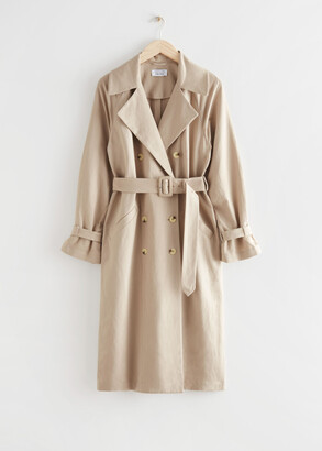 And other stories Relaxed Double Breasted Trench Coat