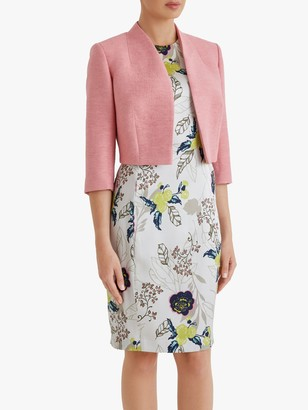 Fenn Wright Manson Petite Caterine Cropped Tailored Jacket, Coral