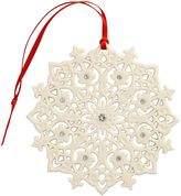 House of Fraser Belleek Living Lace snowflake christmas ornament