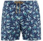 Thorsun - Bird Print Titan Fit Swim Shorts - Mens - Navy