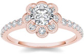 MODERN BRIDE 1 1/4 CT. T.W. Diamond 14K Rose Gold Engagement Ring
