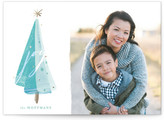 Minted Painted Tree Christmas Photo Cards