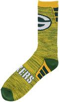 For Bare Feet Green Bay Packers Jolt Socks