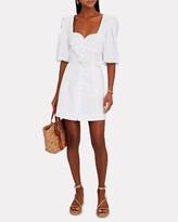 Thumbnail for your product : JONATHAN SIMKHAI STANDARD Juno Cotton Oxford Puff Sleeve Dress