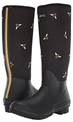 Joules Neoprene Printed Welly (Black Multi Bees) Women's Shoes