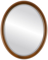 """The Oval And Round Mirror Store Pasadena Framed Oval Mirror in Walnut, 21""""x25"""""""