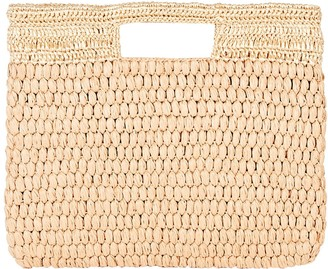 Carrie Forbes Lucy Woven Faux Raffia Tote