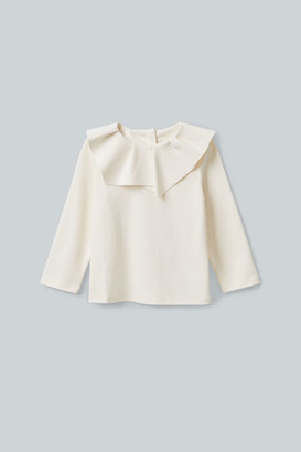 Cos Pleated Collar Cotton Top