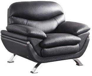 Hokku Designs Jonus Lounge Chair Upholstery: Black