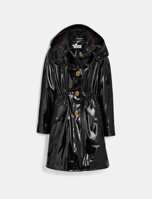 Coach Raincoat With Horse And Carriage Print Lining