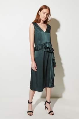 Great Plains Sarah Frill Asymmetric Dress