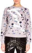 Kenzo Dandelion Crewneck Pullover Sweatshirt, Pale Gray