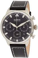 Dugena Men's Premium Quartz Watch with Quartz Dial Chronograph Display and Black Leather Strap
